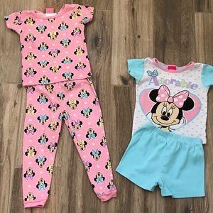 Disney Minnie Mouse Pajama Set 3T
